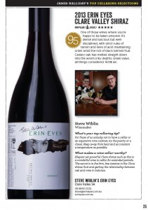 James Hallidays Top Cellaring Selections - 2013 Erin Eyes Clare Valley Shiraz