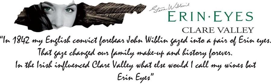 Steve Wiblin's Erin Eyes Wines Logo