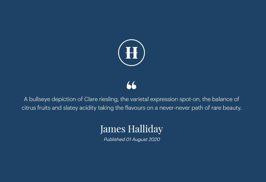 Halliday 2019 Emerald Isle Riesling
